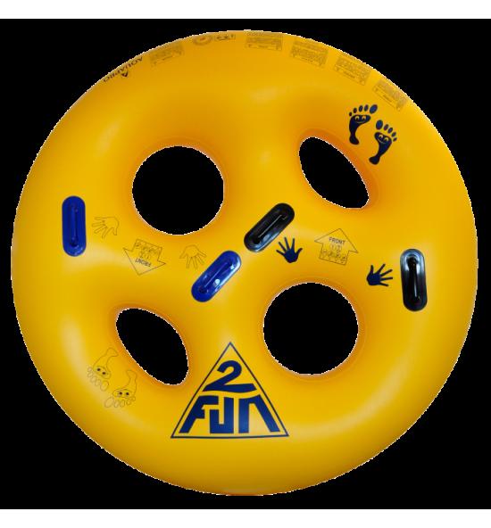 HB-2RO-71Y - Flotador de dos personas para parque acuático