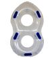 ZLG8C48E - Clear figure 8 shaped waterpark tube