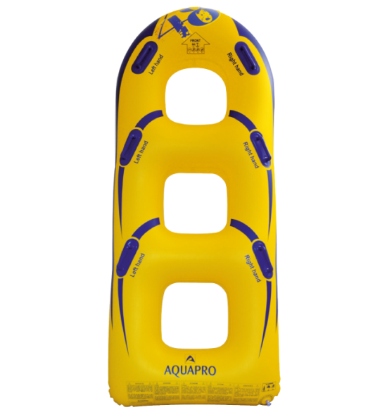 HB-3BU-48Y - Trineo acuático de tres personas para parque acuático