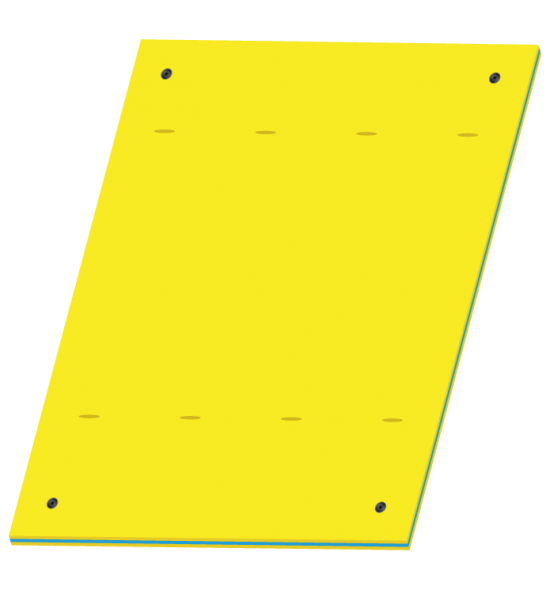 FLOATING MAT FOR AQUATIC ACTIVITIES L