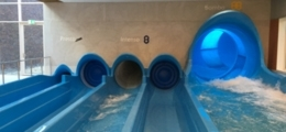 Inflatable shutters for slides